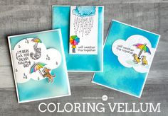 Hello! Today I have four cards showing a simple way to add color to vellum. I am also part of a fun blog hop with giveaways!