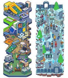Pixel arts vol.2 by Sergey Kostik, via Behance