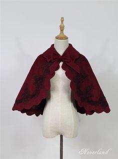 Dark Fairy Tale*** Gothic Woolen Lace Lolita Cape