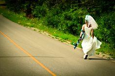 novia bride boda skate wedding marriage married fotografía original photographie carretera road miraquechulo