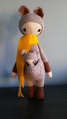KIRA the kangaroo made by Julia S. / crochet pattern by lalylala