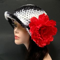 Crochet Derby Hat Summer Fashion Hat by Africancrab on Etsy, $15.00
