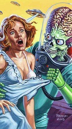 Everything that scares you Dark Fantasy Art, Dark Art, Pulp Fiction Art, Science Fiction Art, Sci Fi Horror, Horror Comics, Arte Cholo, Arte Dope, Arte Sci Fi