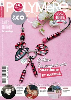 Polymere co couv Magazine, Personalized Items, Bracelets, Jewelry, Necklaces, Fimo, Livres, Jewlery, Jewerly