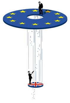 Brexit by Ivan Canu, conceptual stylized editorial illustration