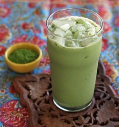 This Matcha Green Tea Vanilla Protein Smoothie (or Iced Latte) is a delicious & healthy way to start your day. Matcha green tea powder is blended with vanilla almond milk, vanilla protein powder & a little ground flaxseed. You can also shake it together and pour over ice to enjoy it as a matcha iced latte. You'll enjoy it even more knowing it's also really good for you! via @https://www.pinterest.com/artfuldishes/
