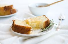 Rosemary Buttermilk Pound Cake. A lush treat for spring. With love from Some Kitchen Stories.