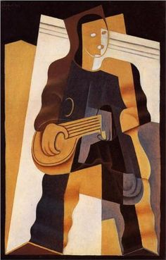 Juan Gris (1887 - 1927) | Cubism | Pierrot - 1922
