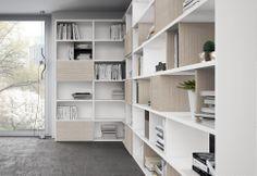 Libreria Bianco opaco, Rovere portofino | Colombini