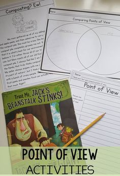 Point of view activities aligned to common core RL3.6- 3rd grade activities, worksheets, passages, and more to teach point of view