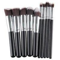 Stylish 10 Pcs Fiber Powder Brush Eyeshadow Brush Face Eye Makeup Brushes Set