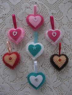 Mini Coeur en Feutrine - miniatures et petits objets - crea mireille - Fait Maison