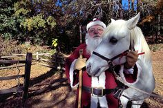 Santa and horse during the Christmas in the Backcountry event Santa, Horses, Christmas, Animals, Yule, Animales, Xmas, Animaux, Horse