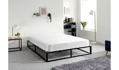 Buy GFW Platform Small Double Metal Bed Frame - Black | Bed frames | Argos
