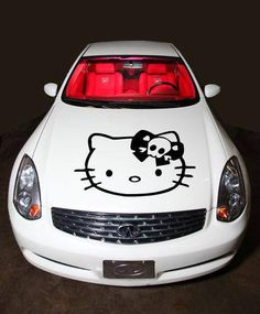 Hello Kitty skull hood decal
