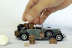 アンティーク ヴィトン トランクの 1:12ペーパークラフトモデル、Antique LOUIS VUITTON Paper craft trunks