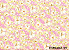 French Floral Cotton Fabric Pink and Cream