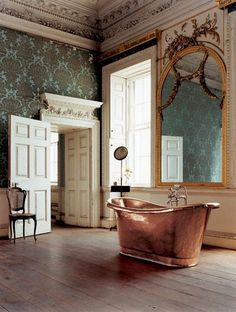 This bathroom is crazy...but beautiful.