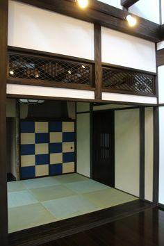 時代家具建具の店 古福庵 / 大正浪漫!!とてもお洒落なお客様邸が完成しました Japanese Bar, Japanese House, Tatami Room, Zen Room, Japanese Interior, Japanese Architecture, House In The Woods, My Dream Home, Mansions