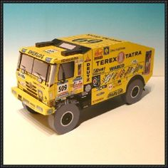 This vehicle paper model is a Dakar 2006 Tatra 815 truck, created by Mira, the scale of the papercraft is in There are also other Tatra 815 paper mod 3d Paper Crafts, Metal Crafts, Paper Art, Cardboard Toys, Paper Toys, Templates Printable Free, Paper Templates, Printables, Garbage Truck