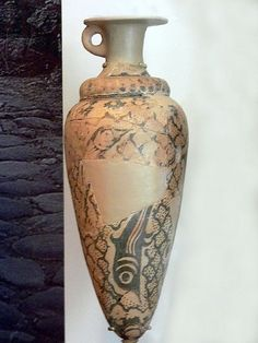 Ovoid ceramic rhyton Pseira Crete Late Minoan 1B