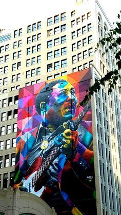 Street Art & Graffiti - Chicago, Illinois (B. Original Photography by R. Kobra Street Art, Murals Street Art, Street Art Graffiti, Best Street Art, 3d Street Art, Street Artists, Pablo Picasso, Chicago Sculpture, Love Graffiti