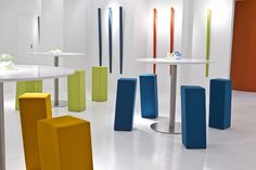 Perch Stools with Veer Table - Davis Furniture - easy to store away when not needed
