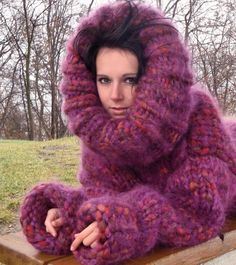 Fluffy and Bulky Mohair Lover Fluffy Sweater, Mohair Sweater, Pink Sweater, Turtleneck, Thick Sweaters, Cozy Sweaters, Knit Fashion, Sweater Fashion, Women's Fashion
