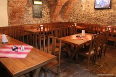 Big range of beers from Slovak to international ones and good kitchen for reasonable prices. Sladovna is usually a packed place, especially during the summe Bratislava, Cool Kitchens, Beer, Table, House, Furniture, Home Decor, Root Beer, Ale