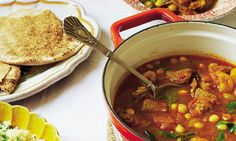 We have great mutton in Devon, so I often make this wonderful recipe by Hugh Fearnley-Whittingstall. I have adapted it to include more chilli, garlic and ginger, tossed in some chickpeas