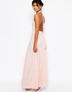 746e9dacdb ASOS sukienka MAXI różowa PLECY klasyczna S 36 8 - 6103384772 - oficjalne  archiwum allegro