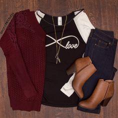 Infinity Love Top #Fall #Fashion #infinity #love #ootd #ShopPriceless