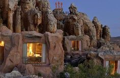 Sleep In A Cave, Kagga Kamma Reserve, CapeTown, Western Cape, South Africa by geraldine