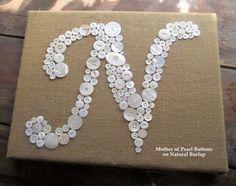 Personnalisé Kids Wall Art bouton lettre N par letterperfectdesigns