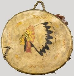 Plains Indian drum on tumblr