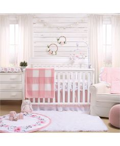 Baby Bedroom, Baby Boy Rooms, Baby Room Decor, Nursery Room, Baby Girl Bedding, Baby Nursery Ideas For Girl, Nursery Curtains, Baby Crib, Room For Baby Girl
