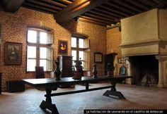 31.Castillo de Amboise. Habitación de trabajo de Leonardo Da Vinci