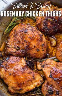 These Sweet and Spicy boneless Chicken thighs are incredibly delicious and made on the stovetop. The dry spice rub is sweet-spicy and is a blend of brown sugar and other spices. This easy recipe qualifies as a perfect midweek dinner. Crockpot Chicken Thighs, Chicken Thigh Recipes Oven, Baked Chicken Recipes, Oven Chicken, Healthy Chicken, Stove Top Chicken Thighs, Teriyaki Chicken, Keto Chicken, Recipes