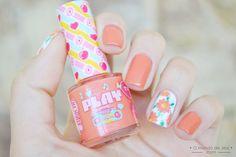 Orange Flowers #nailart