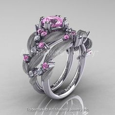 Nature Classic 14K White Gold 1.0 Ct Light Pink by DesignMasters