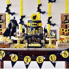 Festa Batman por @festejarubt || #festabatman #festademenino #festamenino…