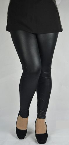 d7843f20d28 Sexy Plus Size Skinny Faux Leather Leggings