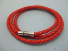 Shoply.com -Woven leather cord bracelet Fashion Red. Only $4.50