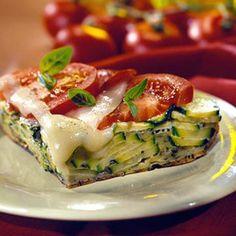 Zucchini-Pepperoni Pizza Frittata, minus meat and add more veggies!
