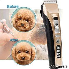 Dog Clippers - Dog Hair Clippers oneisall Low Noise Cordless Rechargeable Pet Grooming Clipper,Professional Heavy Duty Pet Grooming Clippers for Thick Hair Dogs, Cats and Horses
