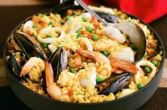 seafood paella from spain