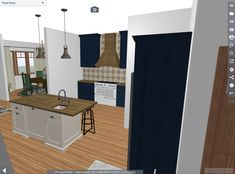 Renderings that show how the interior could be restored for a historic house. Furniture, House, Interior, Old Kitchen, Historic Homes, Home Decor, Entryway, Restoration, Flooring