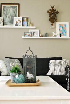 Taupe wall and Ethnic items
