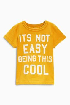 MONIKAL Unisex Infant Short Sleeve T-Shirt Come Get Happy Toddler Kids Organic Cotton Graphic Tee Tops