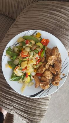 Sweet chilli chicken and veg